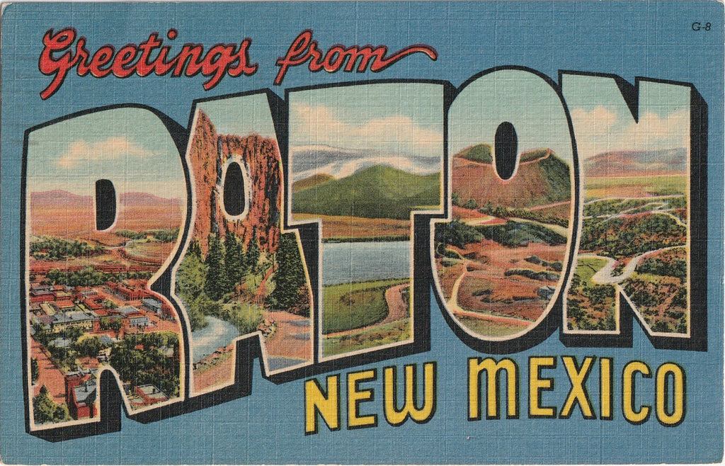 Greetings From Raton, New Mexico - Postcard, c. 1950s