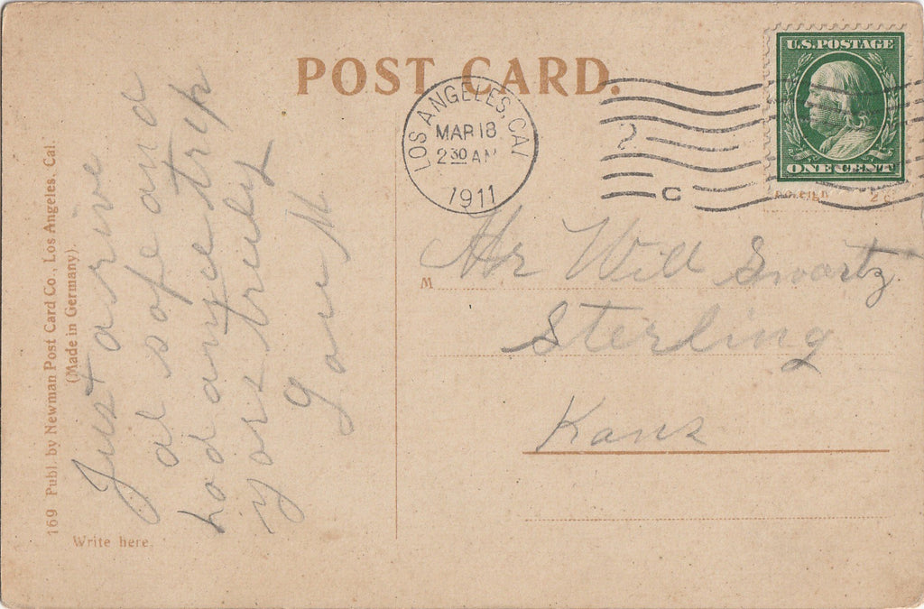 Greetings From a Tenderfoot Postcard Back