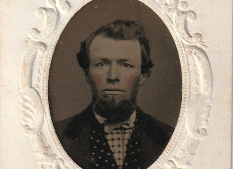 Handsome Rosy-Cheeked Victorian Man - Tintype Photo, c. 1800s