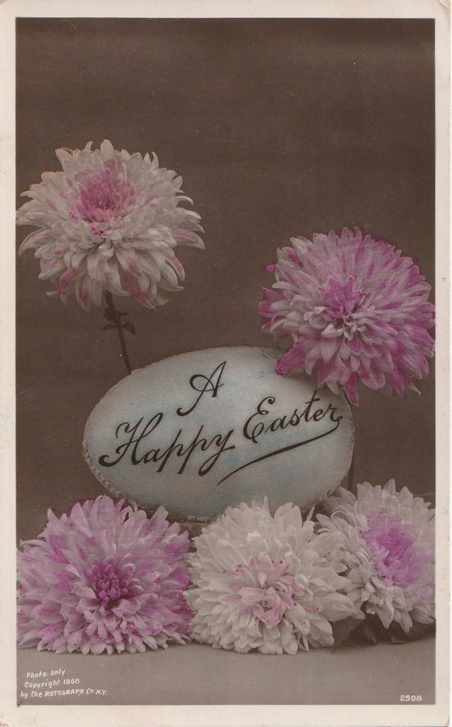 Happy Easter Rotograph RPPC Antique Postcard