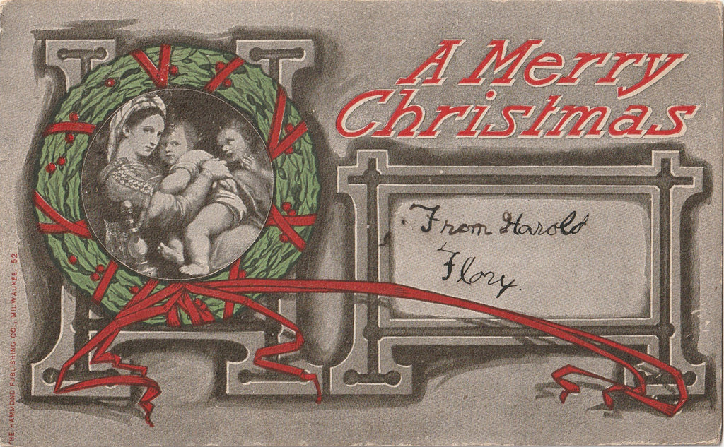 Have A Merry Christmas Antique Postcard