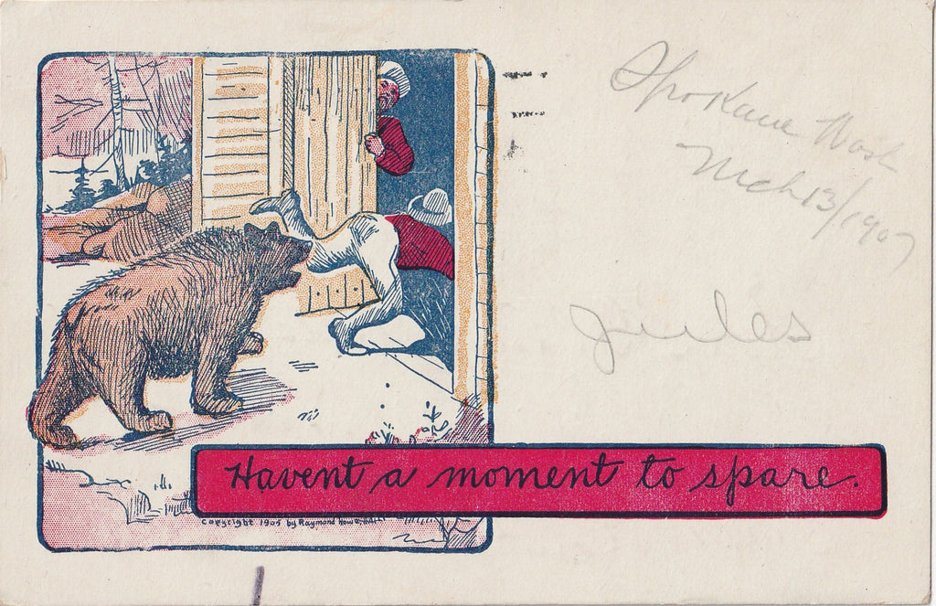 Haven't A Moment To Spare Raymond Howe Postcard