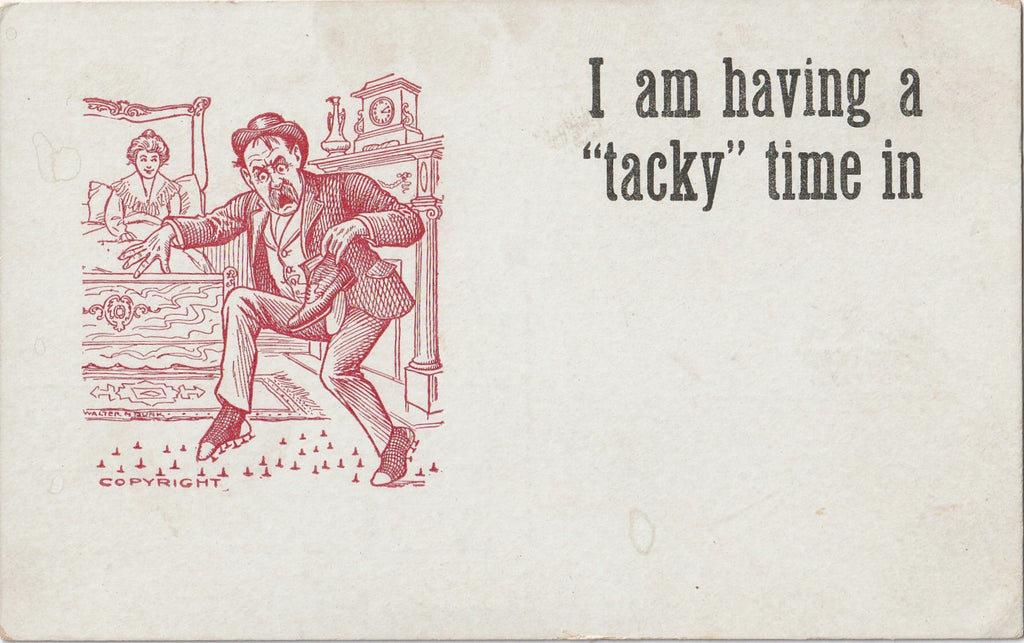 Tacky Time Walter M Dunk Art Comic Postcard
