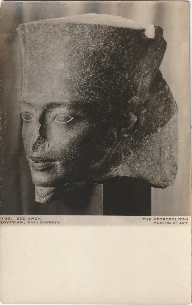 Head of Egyptian God Amon Antique Photo