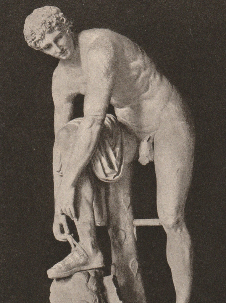 Hermes Statue Glytothek Munich Antique Postcard Close Up