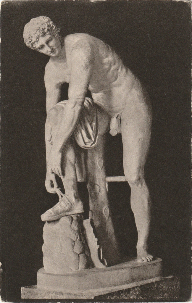 Hermes Statue Glytothek Munich Antique Postcard