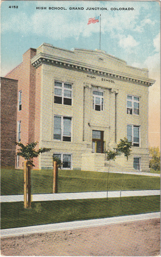 High School Grand Junction Colorado Postcard