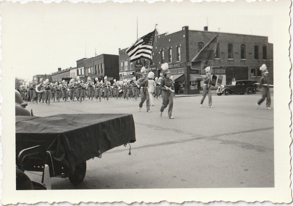 High School Marching Band Parade Photo