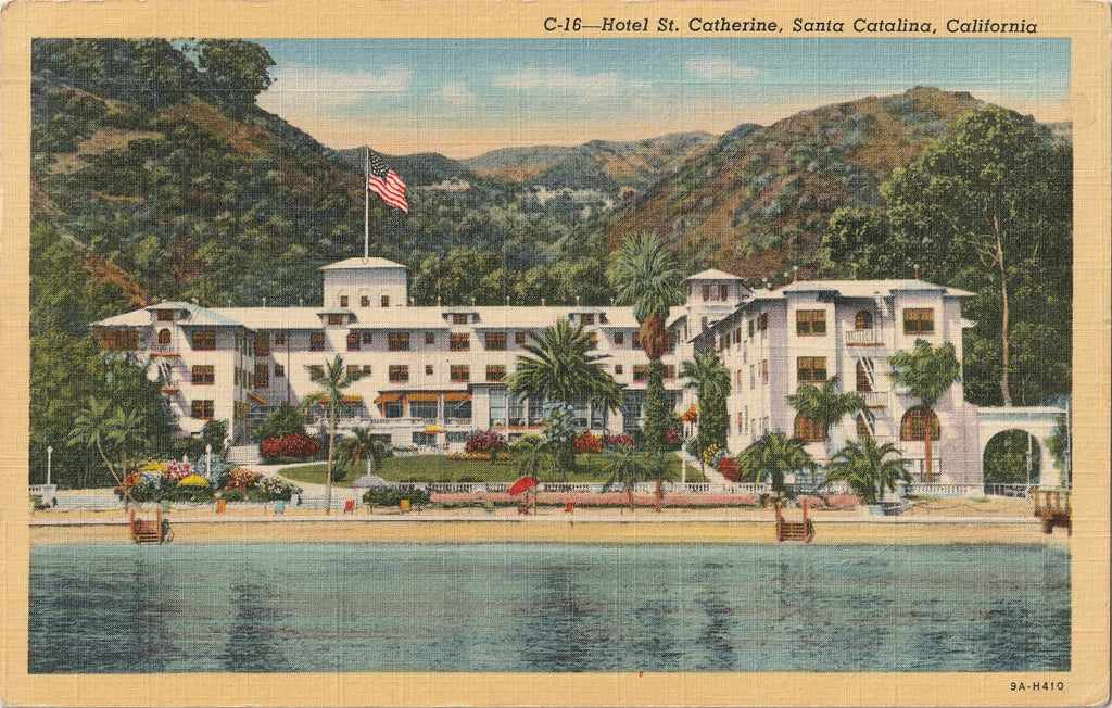 Hotel St. Catherine Santa Catalina California Postcard
