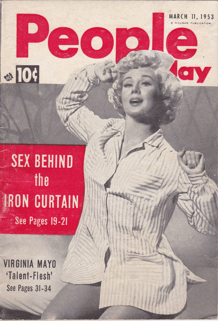 Sex Behind the Iron Curtain- 1950s Vintage Magazine- People Today- March 11, 1953- Virginia Mayo- Paul White- Pin-Ups-