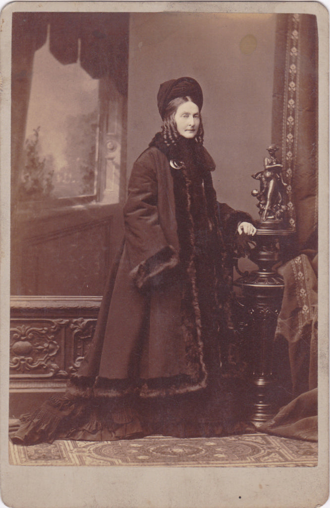 Mrs. Thomas B Bryan- 1800s Antique Photograph- Jennie B Page- Historical Portrait- Identified Cabinet Photo- Washington, DC