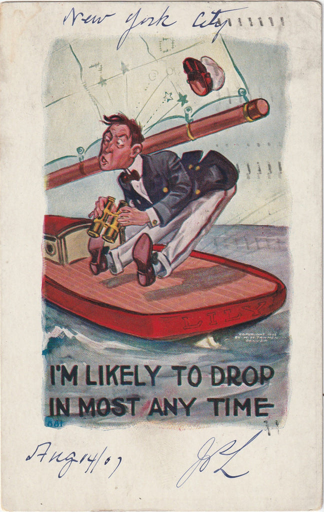 I'm Likely to Drop in Most Any Time H. H. Tammen Postcard