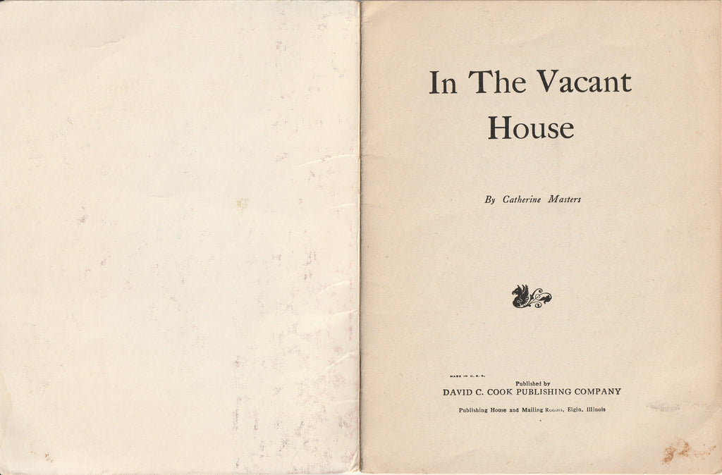 In the Vacant House - Catherine Masters - Ghost Story Booklet, c. 1912