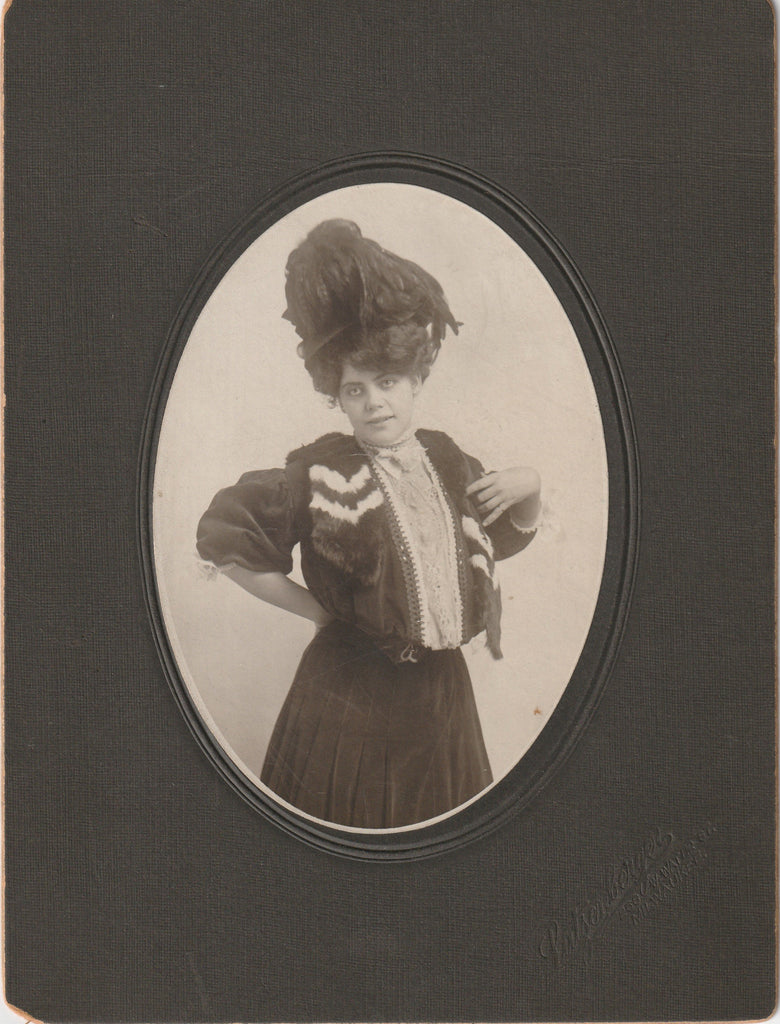 Independent Edwardian Woman Pinky Ring Cabinet Photo