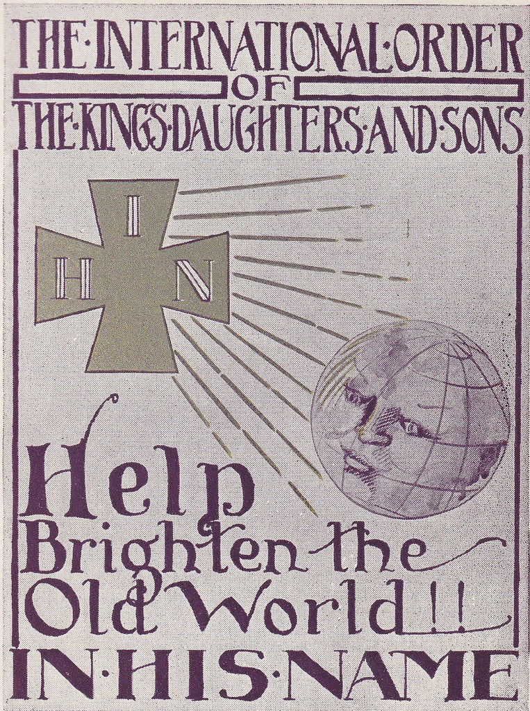 International Order of the Kings Daughters and Sons Vintage Postcard Close Up
