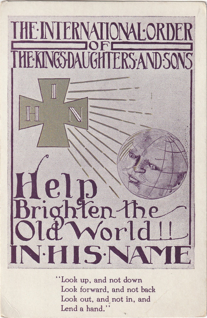 International Order of the Kings Daughters and Sons Vintage Postcard
