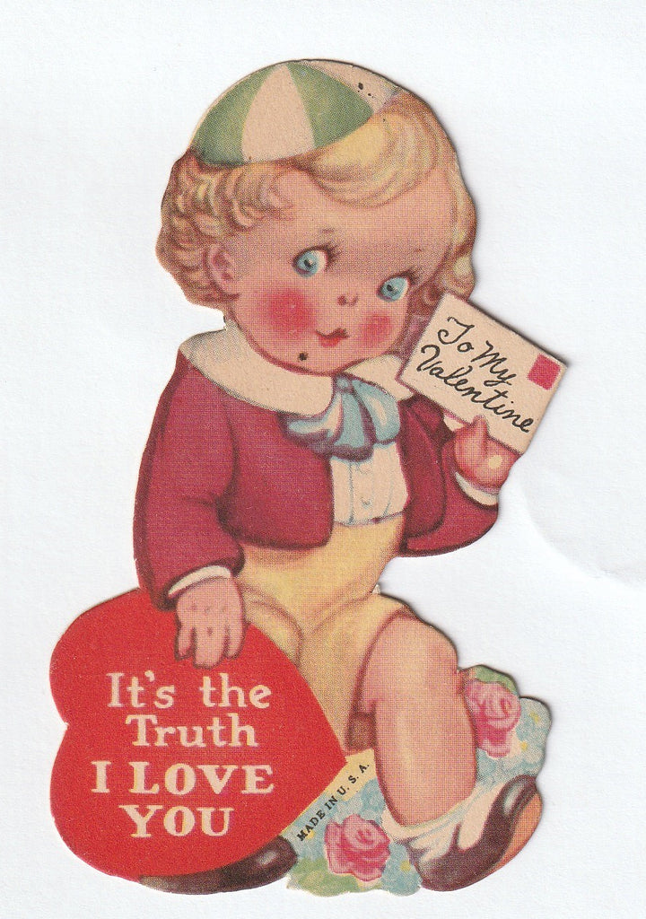 It's The Truth I Love You - Valentine Card, c. 1920s
