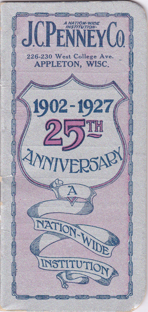 J C Penny 25th Anniversary 1927 Booklet