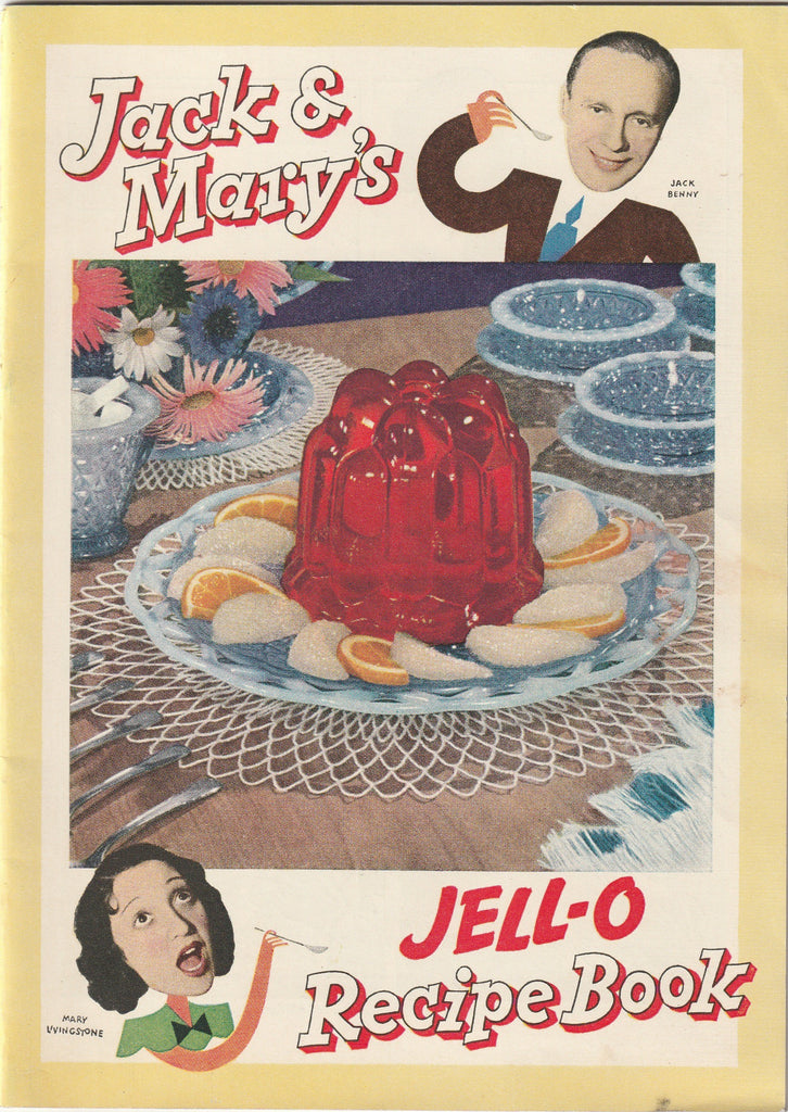 Jack & Mary's Jello-o Recipe Book 1937 Vintage Booklet