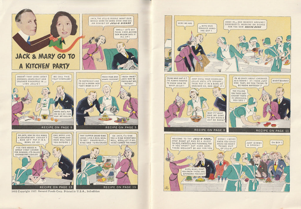 Jack & Mary's Jello-o Recipe Book Comic Strip
