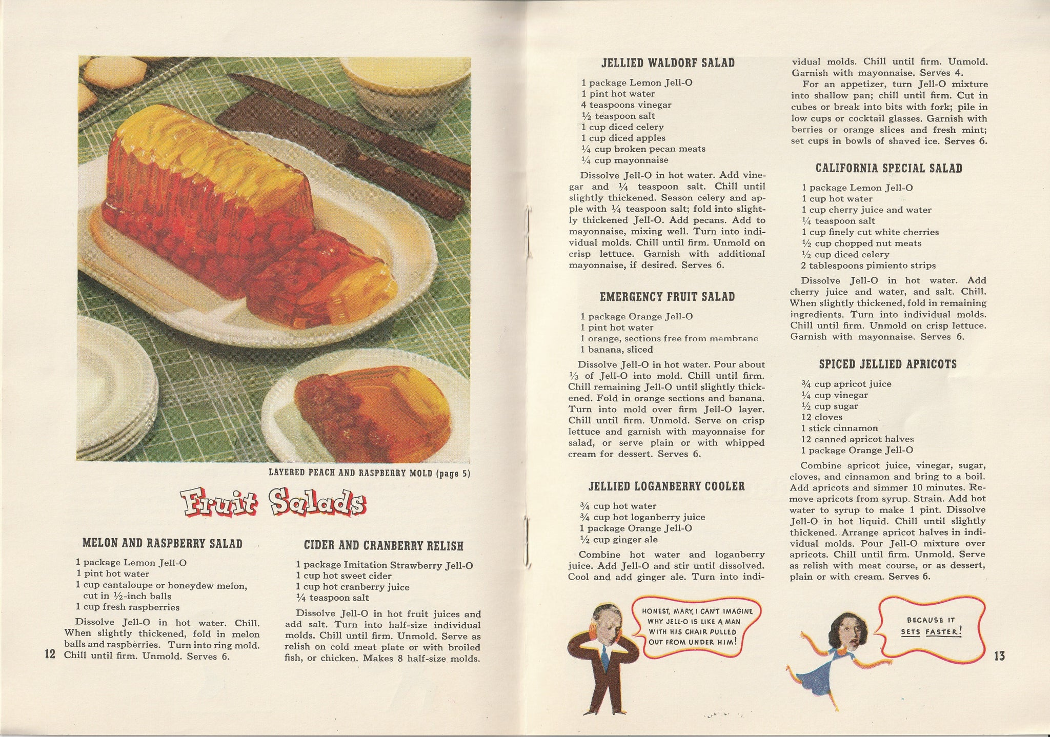 Jack & Mary's Jello-o Recipe Book - Booklet, c  1937