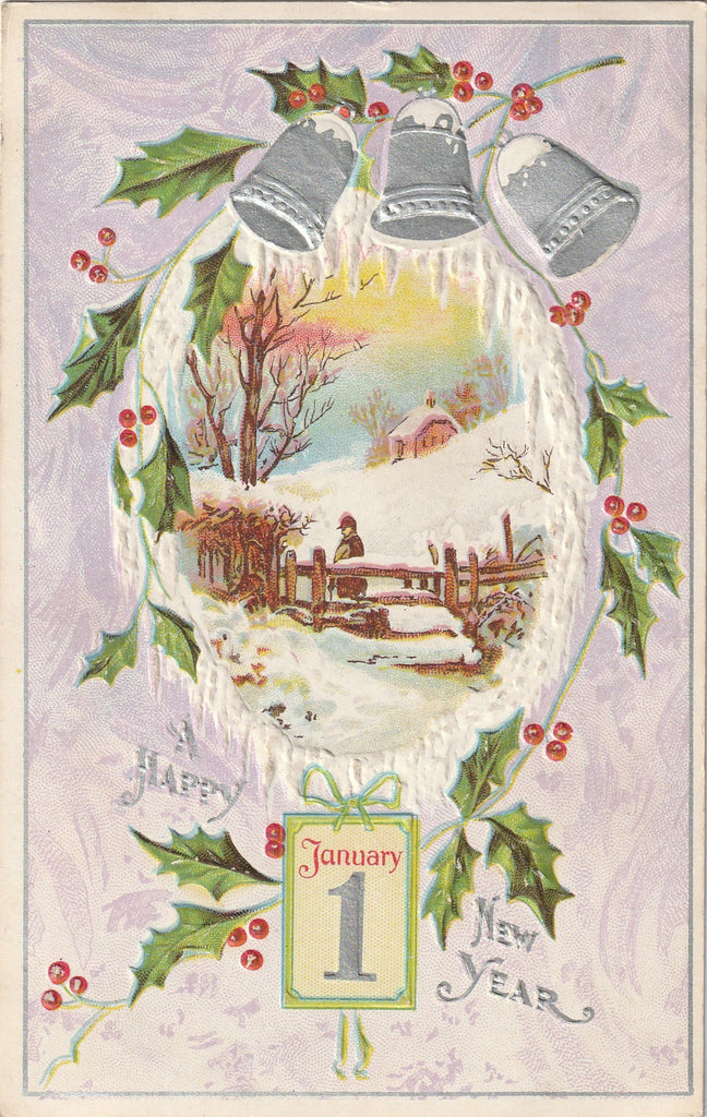 January 1st - Happy New Year - Postcard