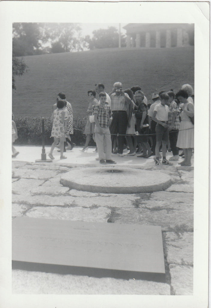 John F. Kennedy Eternal Flame Arlington National Cemetery Vintage Photo