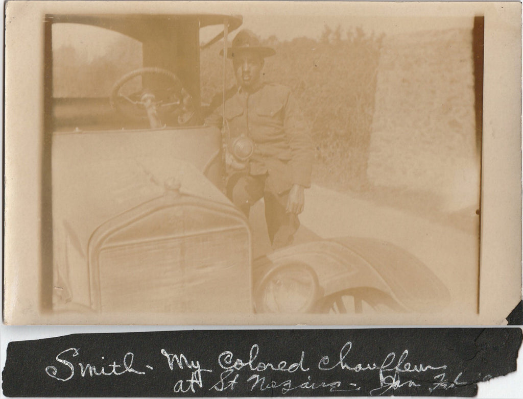 John F. Smith - 301st Stevedores - WWI A.E.F. Soldier - RPPC, c. Mar. 28, 1918