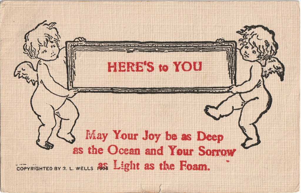 Joy as Deep As the Ocean R L Wells Postcard