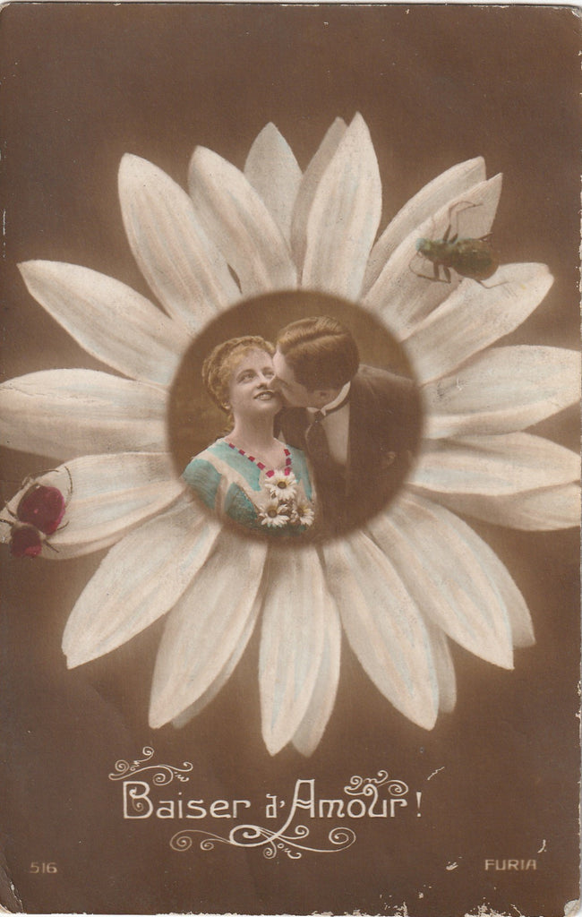Kiss of Love French RPPC