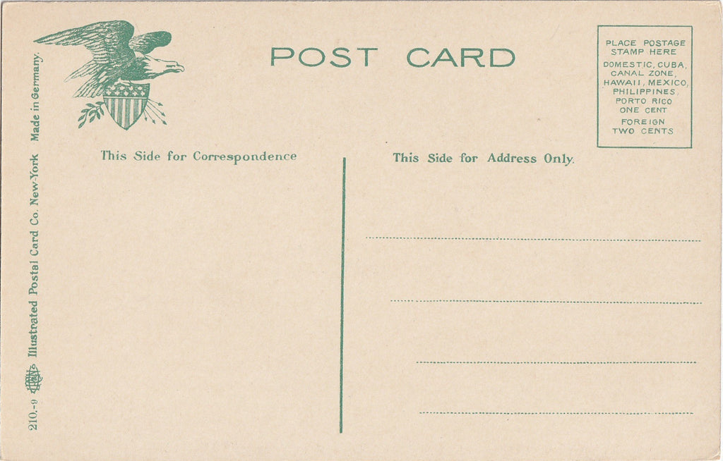 Labor Charles S Pearce Library of Congress Antique Postcard Back