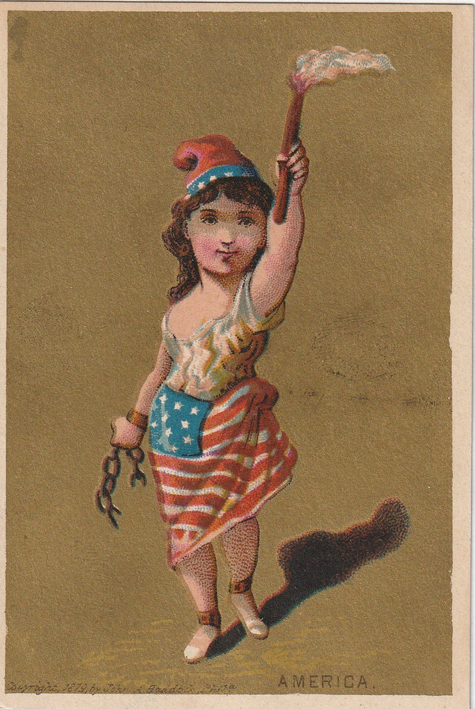 America John A Haddock 1879 Trade Card