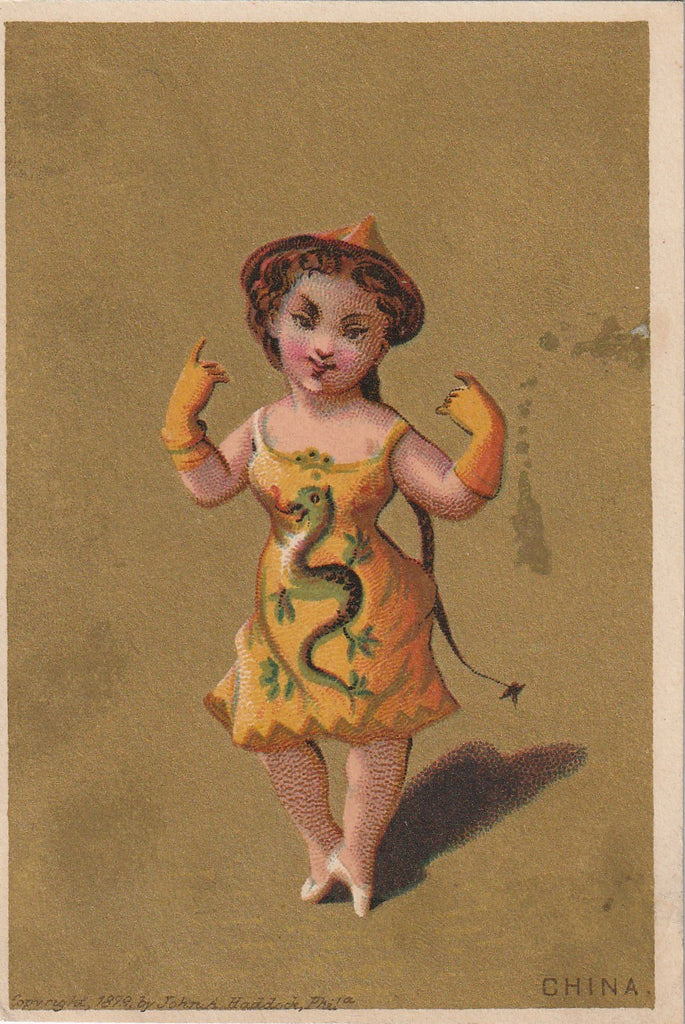 Lady China John A. Haddock 1879 Antique Trade Card