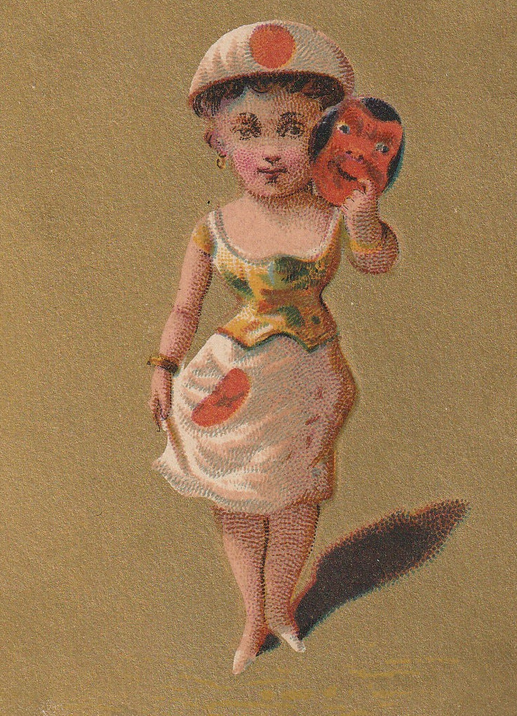 Lady Japan Antique Trade Card Close Up