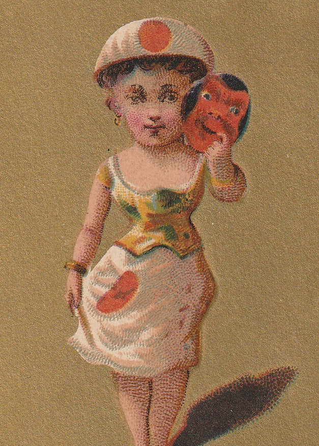 Lady Japan Antique Trade Card Close Up 2
