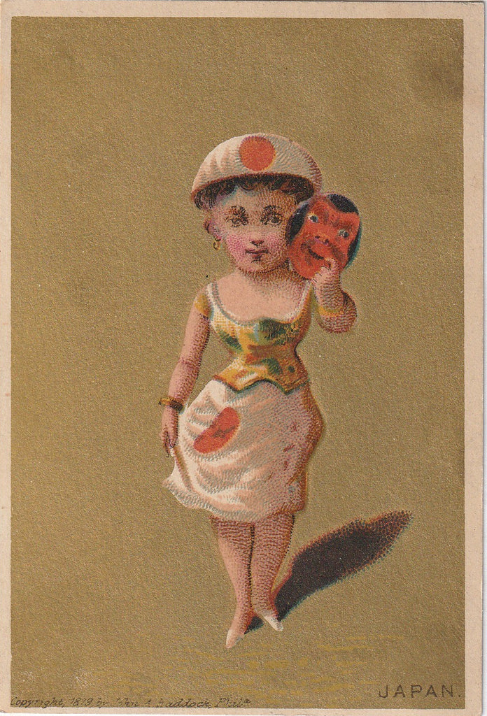 Lady Japan Antique Trade Card