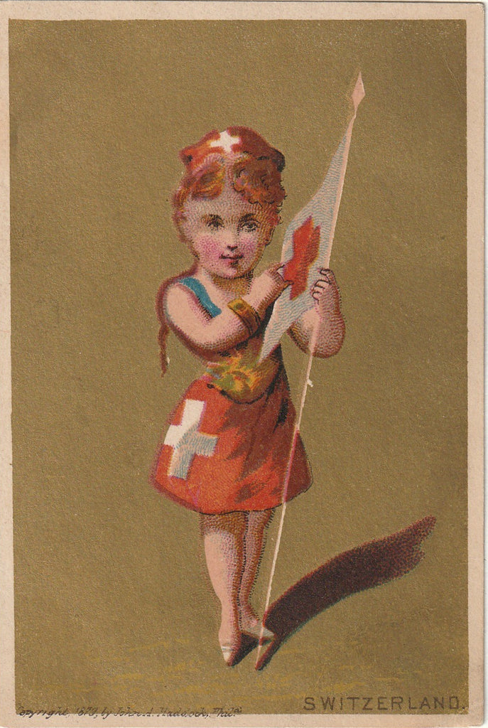 Lady Switzerland - Trade Card, c. 1879