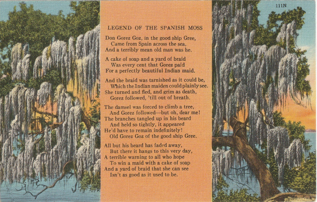 Legend of the Spanish Moss - Postcard, c. 1940s