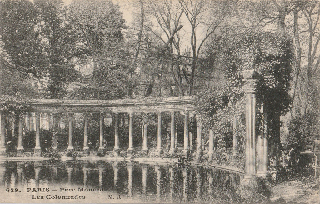 Les Colonnades Parc Monceau, Paris Antique Postcard