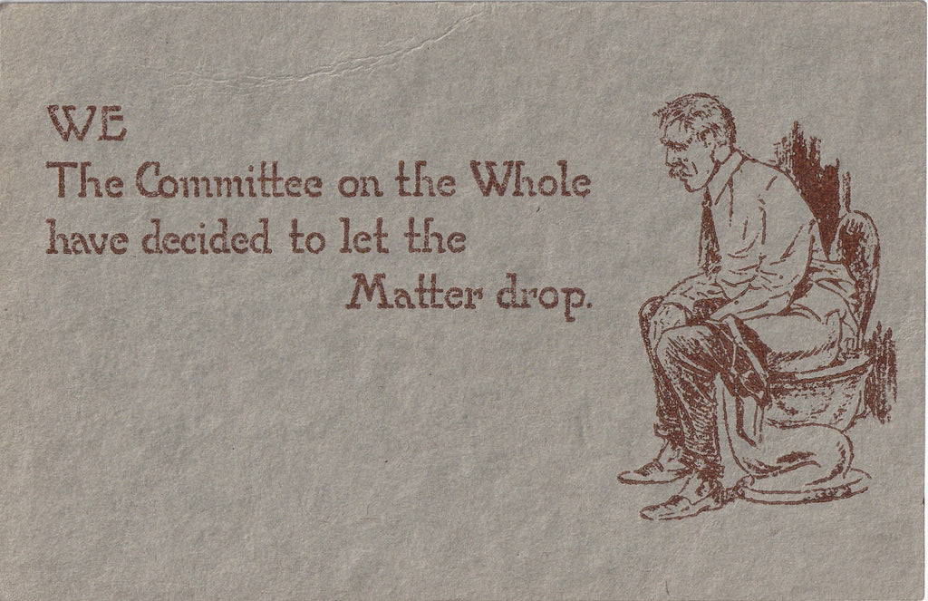 Let The Matter Drop Postcard