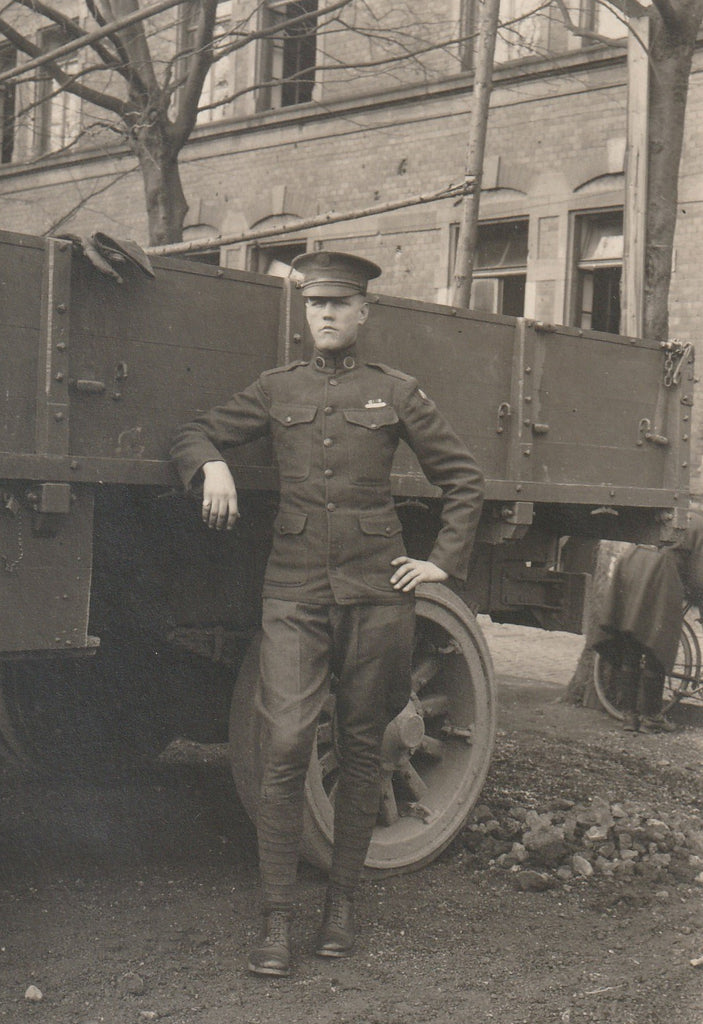 Liberty Truck WWI Soldier RPPC Close Up