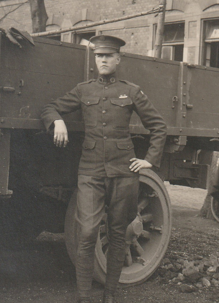Liberty Truck WWI Soldier RPPC Close Up 2