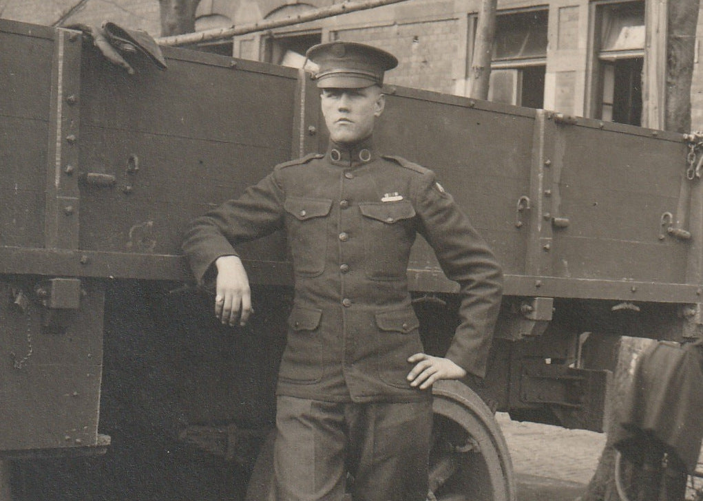 Liberty Truck WWI Soldier RPPC Close Up 3