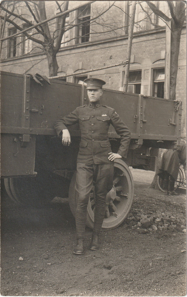 Liberty Truck WWI Soldier RPPC Photo