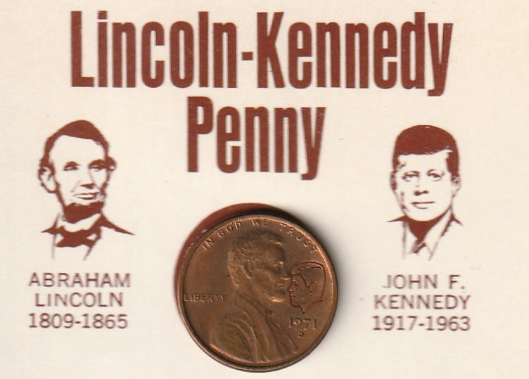 Lincoln Kennedy Penny 1971 Close Up 2