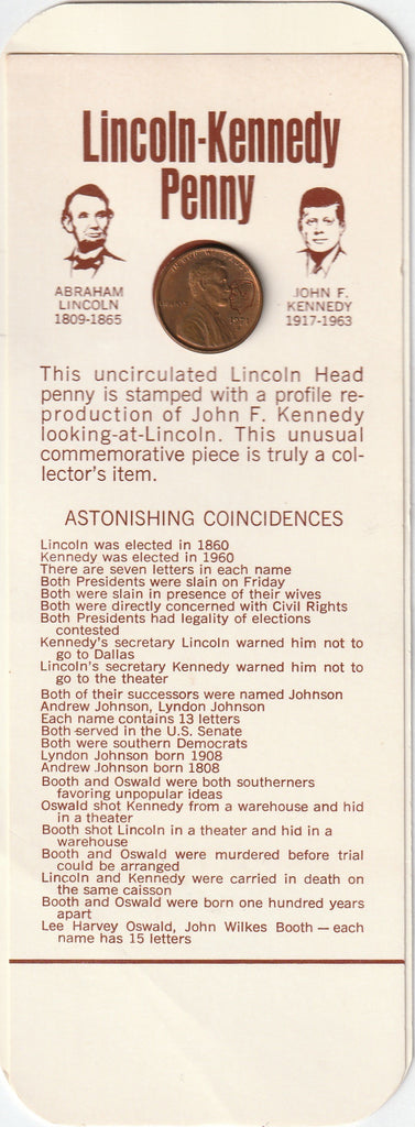 Lincoln Kennedy Penny 1971