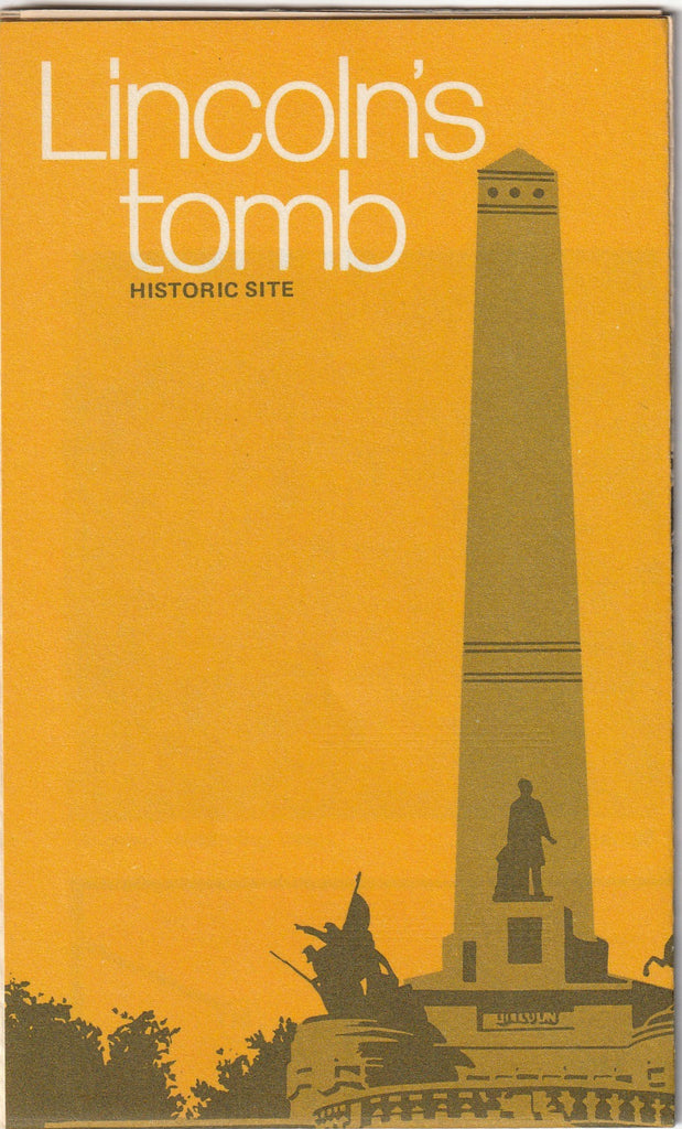 Lincoln's Tomb Historic Site Vintage Pamphlet
