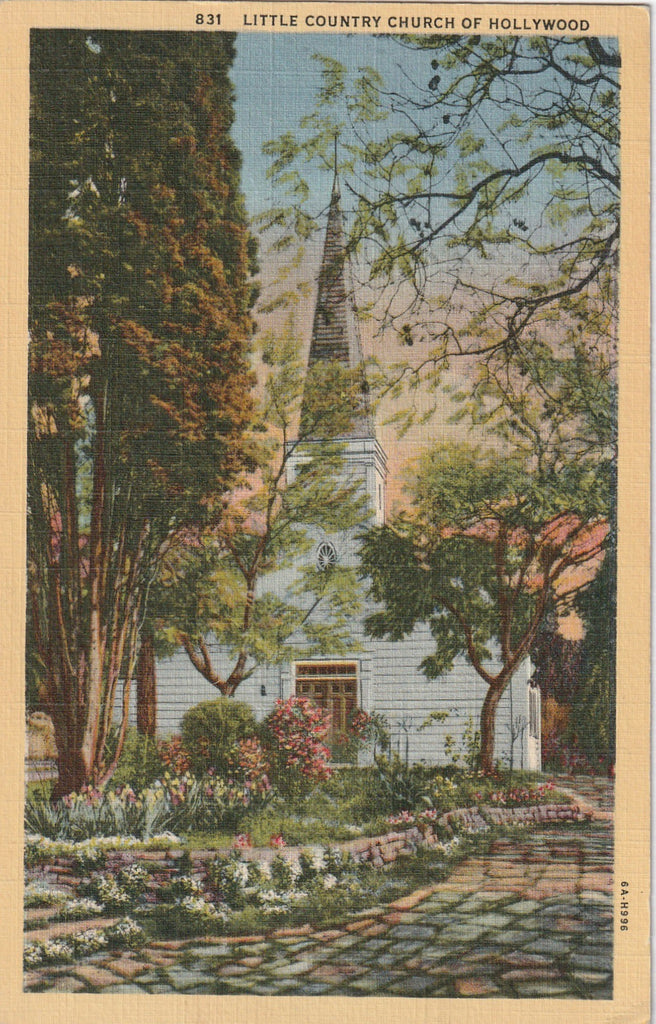 Little Country of Hollywood CA Vintage Postcard