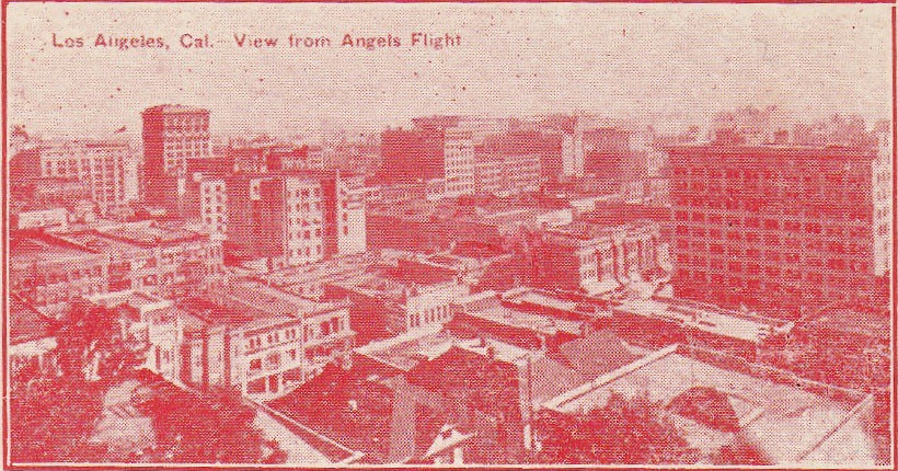 Los Angeles Loss Anjy-lus Antique Postcard Close Up