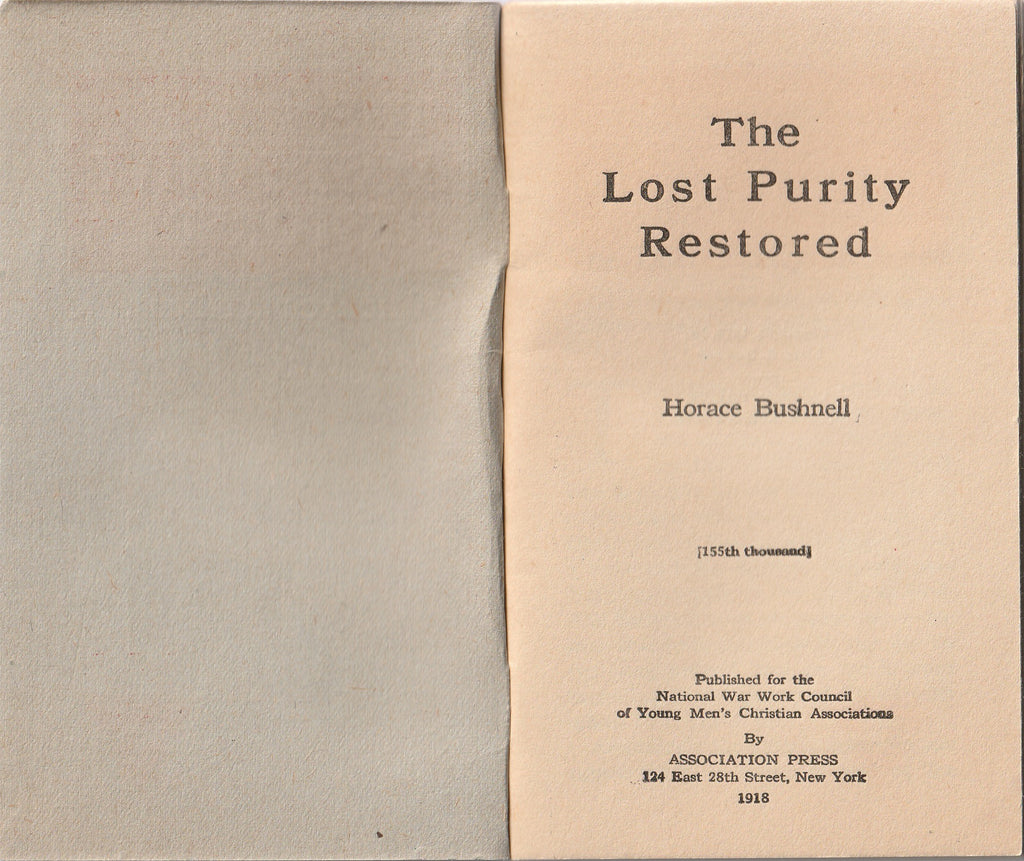The Lost Purity Restored Horace Bushnell Cover Page
